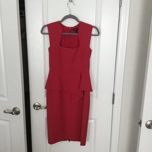 BCBGMaxizara red peplum dress